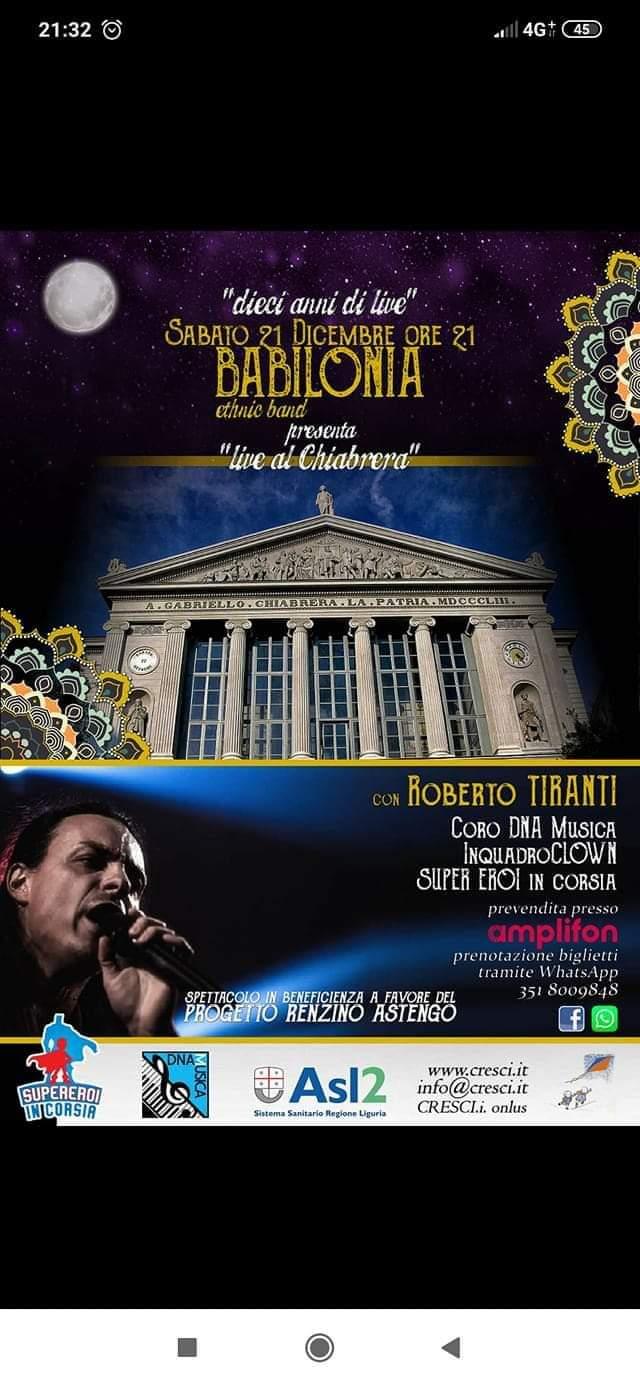 Concerto Benefico al teatro Chiabrera diSavona