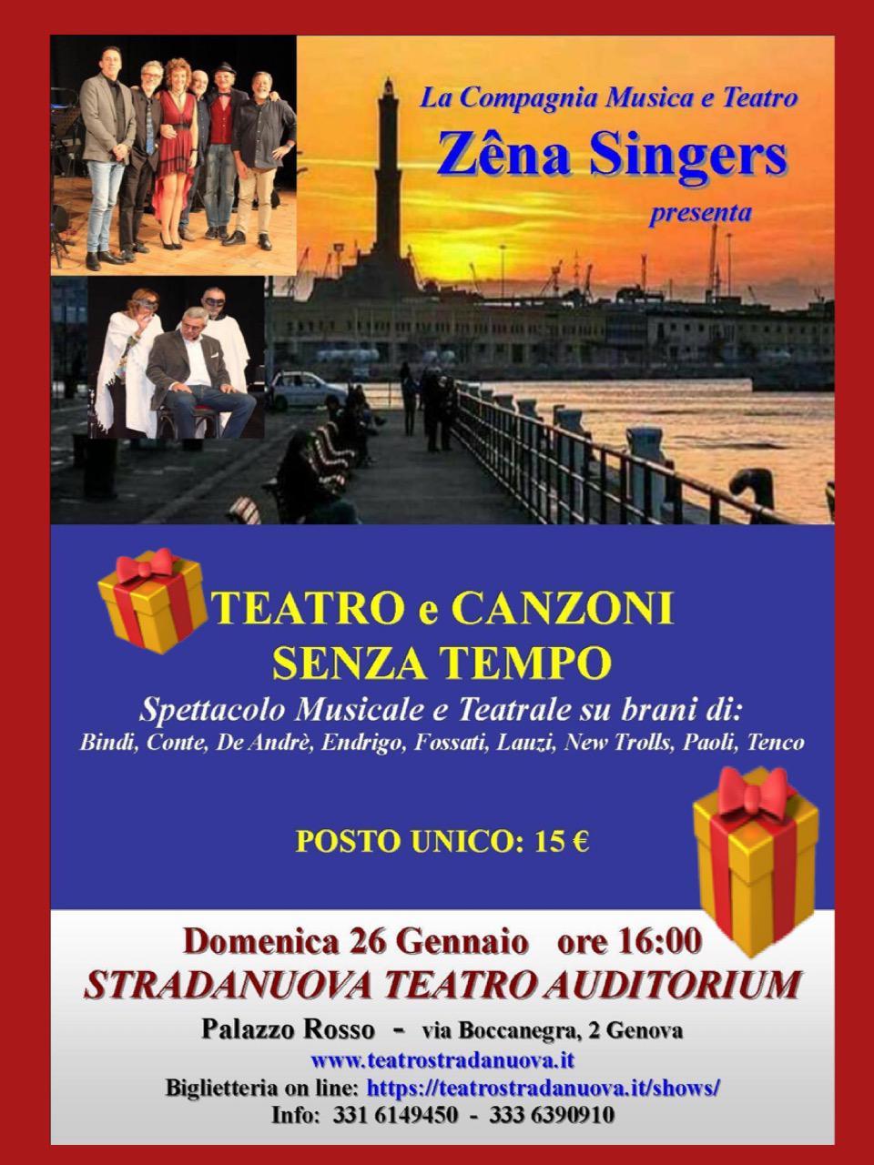 Nuovo appuntamento Zena Singers
