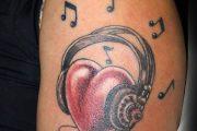 Tattoo : Cuore e musica
